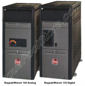 Rheem/Raypak 150,000 btu above ground pool and spa heater 2,000 - 3,999 ft. Alt. Digital PROPANE #014805
